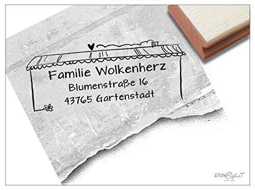 Stempel Individueller Adressstempel Haus - Familienstempel personalisiert Name Adresse Häuschen, Geschenk für Familie Geburtstag - zAcheR-fineT