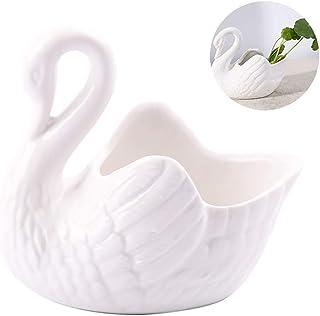 Bougeoirs moule moule céramique 9 x 5 cm et 7 x 4 cm Crème Décoration