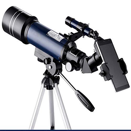Telescopio astronómico Telescopio Refractor de 70 mm Observación de la Luna para niños Adultos Astronomía Principiantes 16X 67X Lente con buscador Alcance