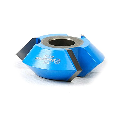 Amana Tool 957 Carbide Tipped 3-Wing V Groove 45 Deg Angle x 2-5/8 D x 15/16 CH x 1/2 & 3/4 Bore Shaper Cutter