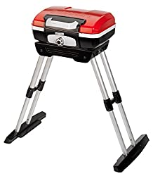 professional Cuisinart CGG180 CGG-180 Petit Gourmet Gas Grill, with Versa Stand, Red, 31.5 (Height) x 16.5″ (Width) x 16 (Length)""