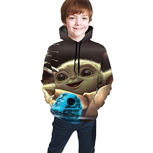 Baby Yoda The Mandalorian Teens Hoodie Print Pullover Sudaderas Personalizadas Sudaderas Suéter para niños niñas Adolescentes Kid