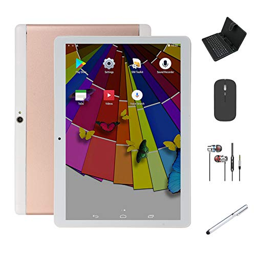 BESTSUGER Tableta 10 Pulgadas Android 8.0 Tablets, 2GB RAM 32GB ROM y Pantalla HD IPS, 5000mAh Batería, 2 Ranuras para Tarjetas SIM, Bluetooth, WiFi, GPS