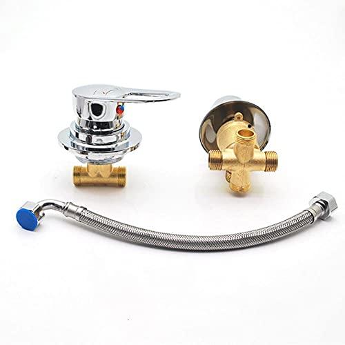 AFUDER 2/3/4/5 Deviatore di uscita Due pezzi Miscelatore per doccia Miscelatore per doccia Cartuccia per valvola in ceramica Rubinetto per acqua calda fredda Miscelatore in ottone cromato