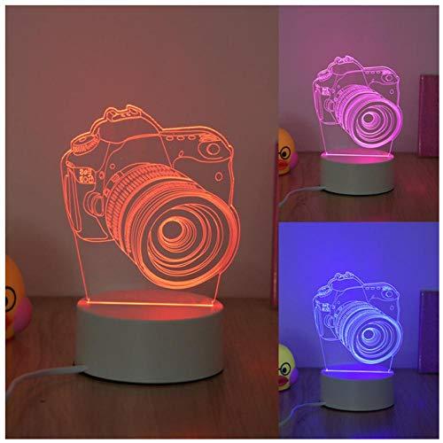 Luz nocturna para niños Luz nocturna 3D Camara de video 7 colores cambian la luz nocturna para niños con Smart Touch Regalos perfectos para niños y decoración de habitaciones.