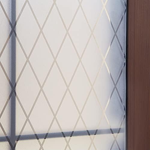 FEOMOS Película para ventana de celosía – Adhesivo estático para ventana de...