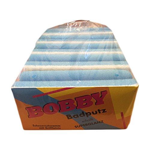 Bobby Badputz für Superglanz Scheuerschwämme mit Griffleiste Badreiniger (5 Stck. Packung)