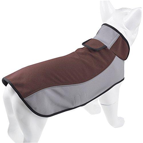 Fosinz Outdoor Waterproof Dog Jacket Dog Coat with Reflective Stripe (M(Length:14',Neck:15',Breast:18'), Blue)