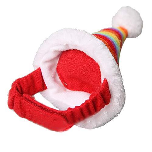 Barlingrock Kleine Haustiere Weihnachtsfest Dekoratives Kostüm Hamster Niederländisches Murmeltier Eichhörnchen Totoro Weihnachtsmütze mit Band Einstellbare Urlaub Dekoration Katzenmütze für Hallowe