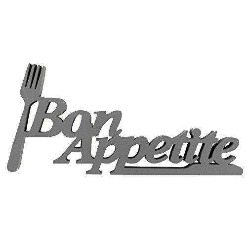 "Holzschrift ""Bon Appetite"", 8,7x19cm, ideal als Wand-, Tisch- oder Geschenkdekoration, Holzspruch, Holzschrift"