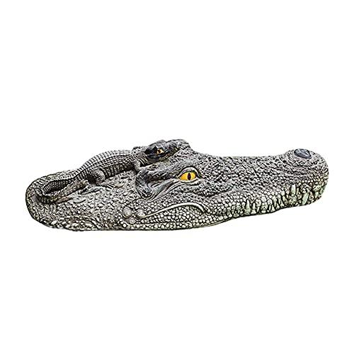 """NYXUAN 20 """"Alligator Head Decoy & Vijver Float, Realistische Drijvende Hoofd Alligator"""