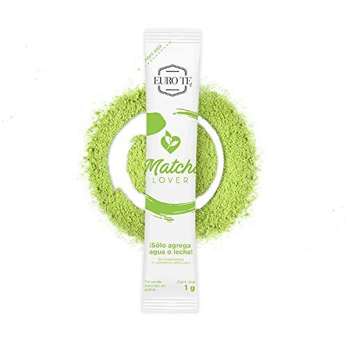 EURO TE Sticks Matcha Lover de Té Verde Matcha Japonés, 40 Sticks de 1g Cada Uno (40 g en Total)