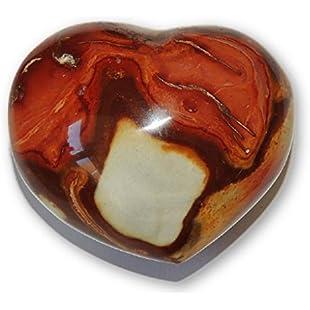 "6.22cm/2.45"" Polychrome Jasper Polished Crystal Heart 154g:Deepld"