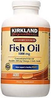 Kirkland Omega 3 Fish Oil 1000 mg 400 Softgels