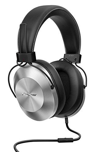 Pioneer SE-MS5T(S) Over-Ear Kopfhörer (High-Res Audio Wiedergabe, Freisprechfunktion, hoher Tragekomfort, hohe Klangqualität, für Smartphone, Tablet, Hifi Anlage, Aluminium Design), Silber