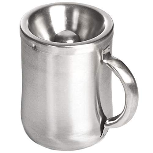 5 Inch Brushed Stainless Personal Spittoon with Removable Top