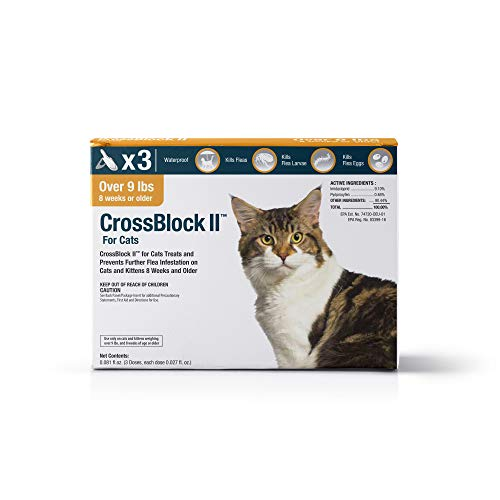 VetOne: CrossBlock II Kills & Prevents Fleas on Cats & Kittens Over 9 Lbs. 3 Applications.
