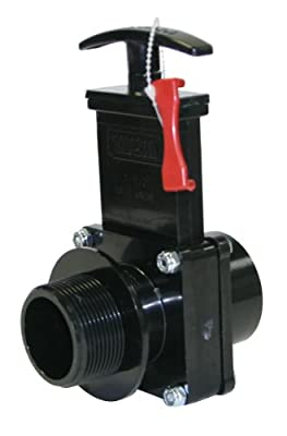 """Valterra 7108X ABS Gate Valve, Black, 1-1/2"""" FPT x MPT, w/ Gate Keeper by Valterra Products"""