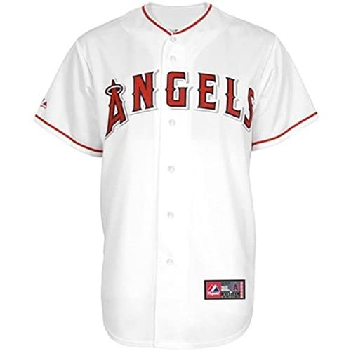 a46a70c5e VF Los Angeles Angels MLB Majestic White Replica Baseball Jersey Big   Tall  Sizes (4XL
