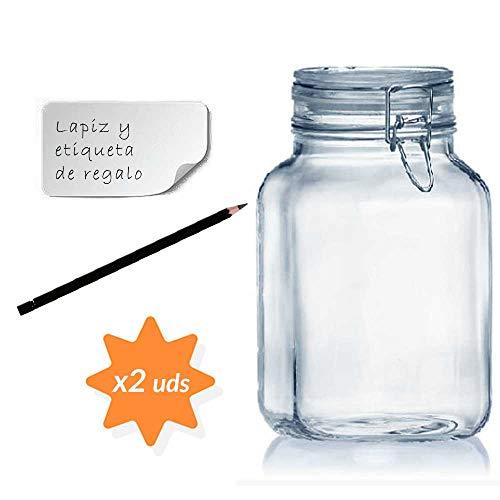 Botes de cocina para almacenar alimentos Pack de 6 Cristal 500/ml