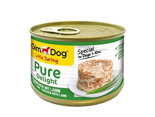 GimDog Pure Delight Hühnchen mit Lamm - Proteinreicher Hundesnack mit zartem Fleisch in köstlichem Gelee - 18 Dosen (18 x 150 g)