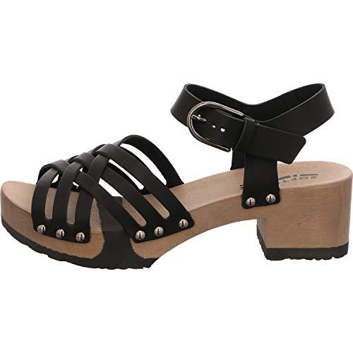 Softclox S3470 Pamina SOFTNAPPA - Damen Schuhe Sandaletten - 02-schwarz, Größe:37 EU