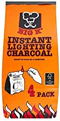 4 x 1kg bags of FSC certified instant light lumpwood charcoal for outdoor cooking, camping, barbecues, & pizza ovens No need for starting fuels like firelighters or lighting gel, simply light the 1kg dust proof bag to light your home BBQ Quick & easy...