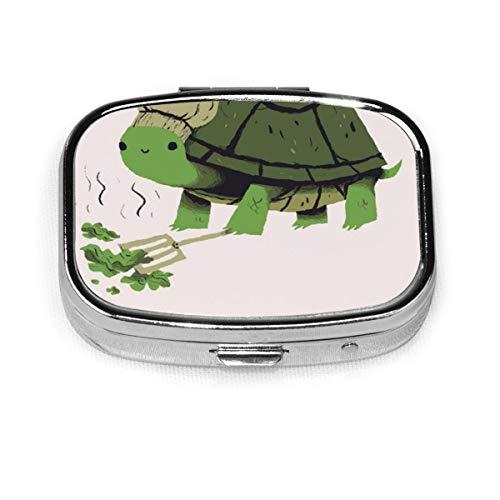 Anime Sea Turtle Slow Cooker Custom Fashion Silver Square Pill Box Medicine...
