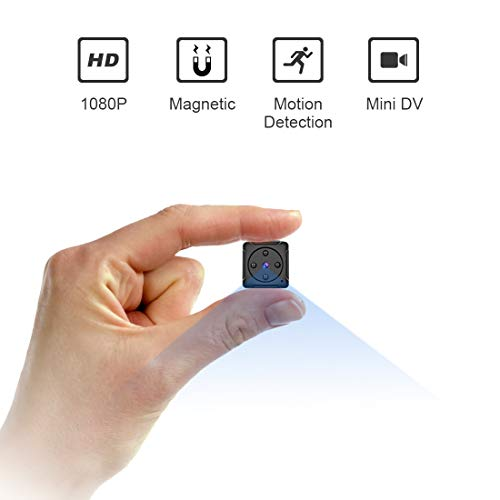 Mini Spy Camera Hidden Camera - Micro Nanny Cam - MHDYT Portable Small Video Camera 1080P Cop Body Cam with Motion Detection and Night Vision, Tiny Cameras for Home Security Indoor/Outdoor Using