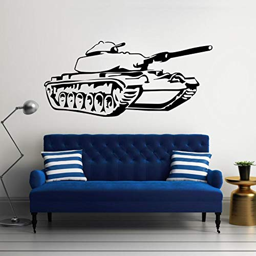 yaonuli Armee Panzer Kinderzimmer dekorative Wandaufkleber Vinyl Wandtattoo Militär Panzer abnehmbar für Heimtextilien 63x46cm