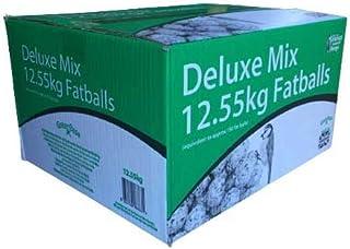 Grumpy Gardener 12.55kg Box of ~150 x Deluxe Mix Fatballs, Gourmet Suet Balls that your Wild Garden Birds will Love.