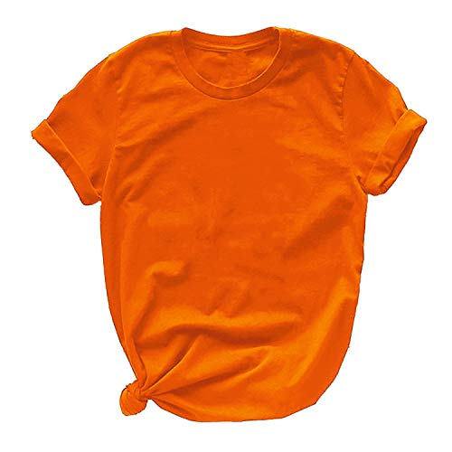 Miracle TM Neon Color Athletic Wicking T Shirts - Adult High Visibility Neon Shirts for Men and Women, Neon Womens - Orange, Medium