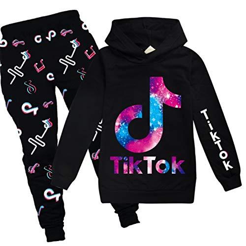JIAOJIA Sweatshirt Hoodies Lange Hose 2-teiliges Set Sportswear Jogginganzug für Damen und Herren 170cm