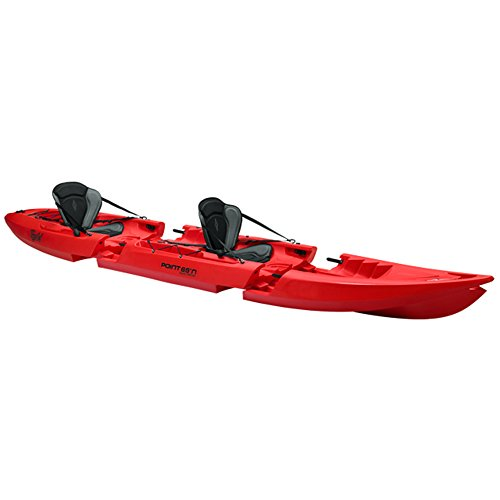 Point 65 Tequila Kayak modulable Adulte Unisexe, Rouge, Duo