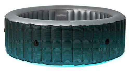 MSPAUK Starry 2021 Mspa Tragbarer Whirlpool rund quadratisch 2/4/6 Personen Outdoor Bubble Spa Pool Whirlpool Inflation Smart Filtration, UVC Desinfektionstechnologie, 36 Grad Schnellheizung, 6