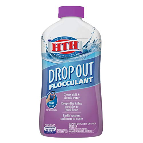 HTH 67029 Drop Out Flocculant Swimming Pool Cleaner, 1 qt