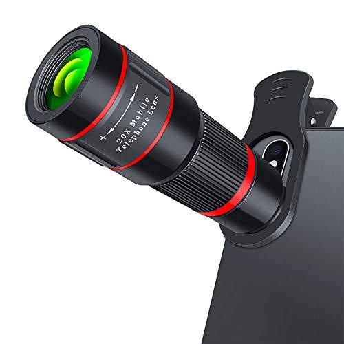 WQYRLJ 20X Zoom Telelens HD Monoculaire Telescoop Telefoon Camera Lens voor Iphone 11 Xs Max XR X 8 7 Plus voor Android Smartphone
