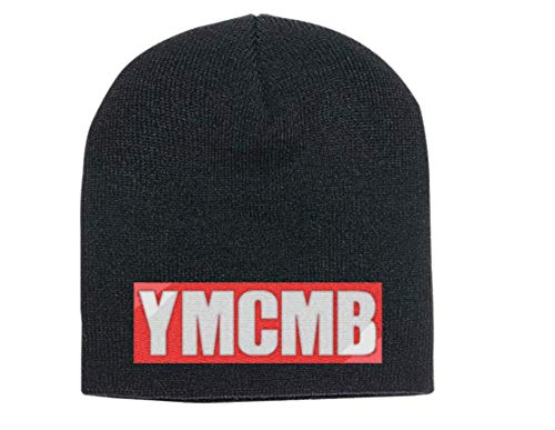 QianruB-No. 1 Gorro de punto YMCMB, color negro, gorro bordado, gorro de punto unisex