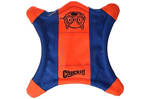 ChuckIt! Flying Squirrel Spinning Dog Toy, (Orange/Blue), Multicolor,...