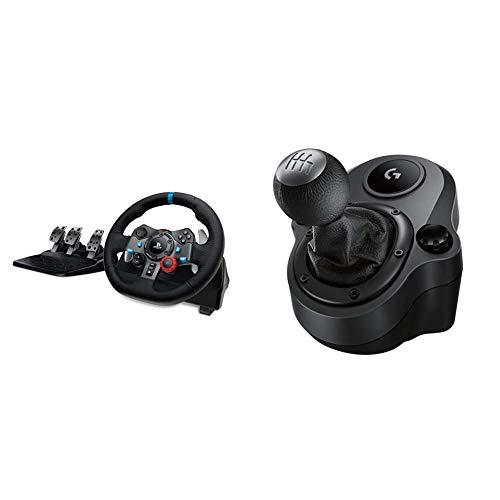 Logitech G29 Driving Force Racing Wheel & Pedals Plus Gear Shifter Bundle (PS4   PS3 & PC) UK-Plug