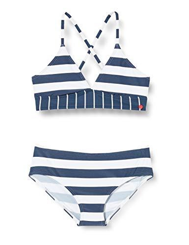 ESPRIT NORTH BEACH YG      bustier+shorts Bikini-Set, Mädchen, Blau 140/146