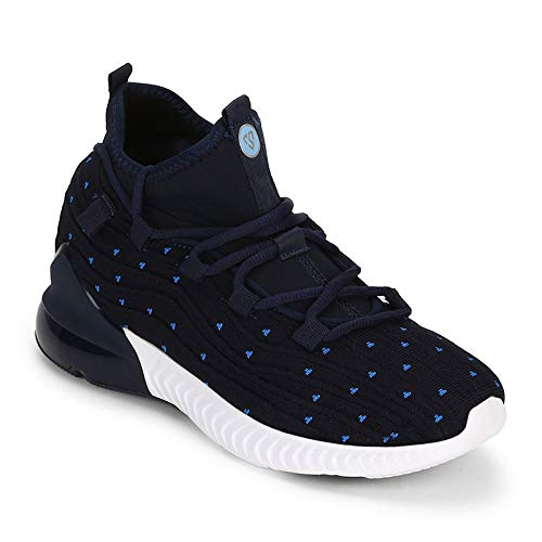 Columbus Passion Navy Blue Mesh Running Sports Shoes
