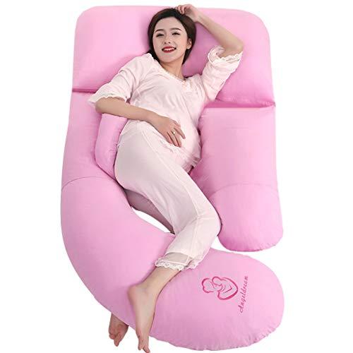 Max Home Extra groß (185cm x 80cm) Schwangerschaft Kissen, Mutterschaft Kissen, Ganzkörper-Kissen und Stillkissen mit 100% Baumwolle Kissenbezug (Farbe : Pink)
