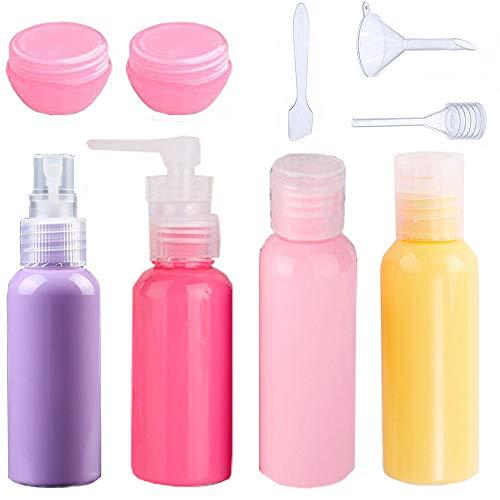 Flaconi da Viaggio Bottiglie da Viaggio Aereo Contenitori di Liquido da Cosmetici Set Flaconi  9 Pezzi per Cosmetici, Accessori per Viaggio, Set da Viaggio Vacanza