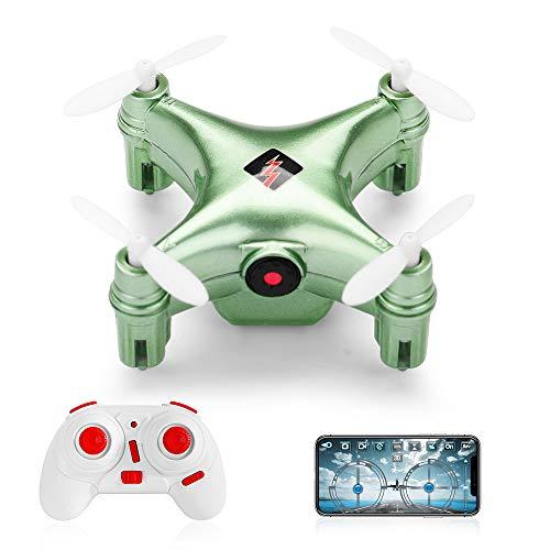Goolsky WLtoys Mini Drohne Q343A RC Quadrocopter mit 480P Kamera WiFi FPV,Grün