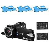 TOPTOO Videocamera portatile 1080P FHD Videocamera digitale Videoregistratore Registratore DV Supporto 24MP IR Visione notturna Connessione WiFi 16X Zoom digitale Schermo TFT rotante da 3