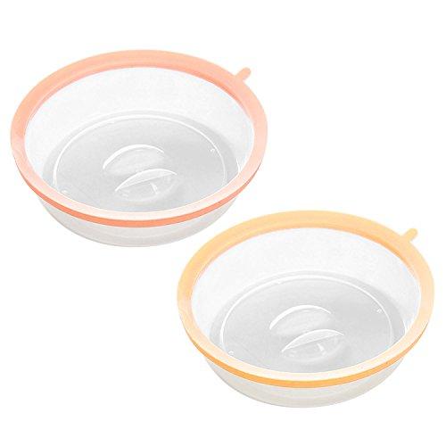 2pcs Ronde couvercles Micro-Ondes pour Assiettes Plats Bols de Couleur aléatoire