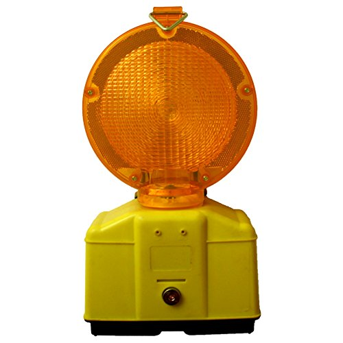 Baustellenleuchte mit LED, gelb/mit Schloss