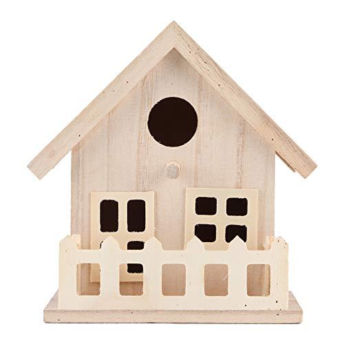 HERCHR Casa de Madera para pájaros para Exteriores, pajareras para Colgar al Aire Libre, Loros, Caja de nidos de reproducción, decoración de jardín