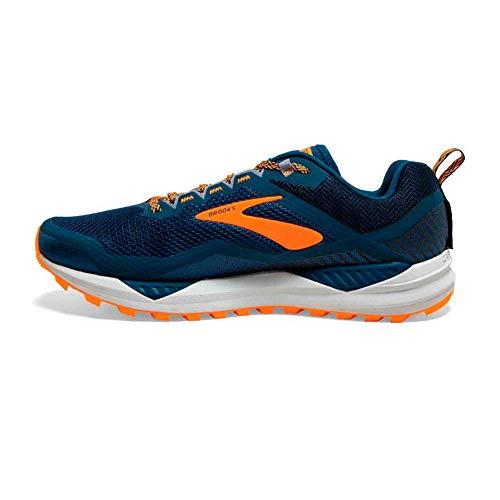 Brooks Cascadia 14, Zapatillas de Trail-Running por Hombre, Azul (Poseidon/Orange/Grey 489), 46.5 EU